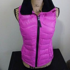 CALVIN KLEIN Women's Vest Quilted Fleece Down Sz S